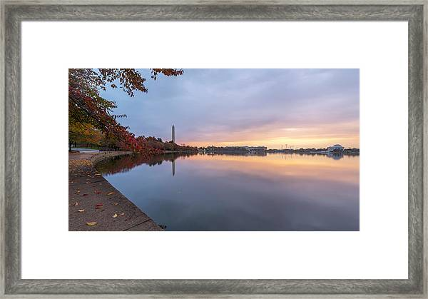 Tidal Basin In Fall 3 Framed Print by Michael Donahue