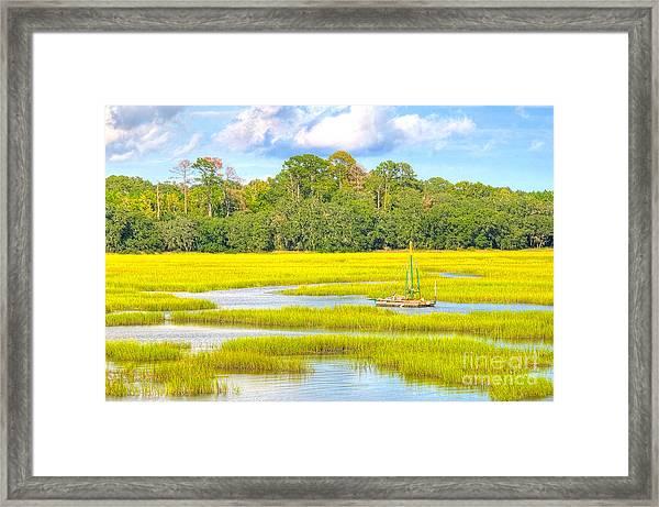 Tidal Castaway Framed Print
