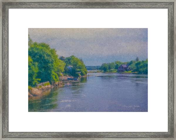 Tidal Inlet In Southern Maine Framed Print