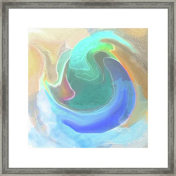 Framed Print featuring the digital art Tidal Pool by Gina Harrison