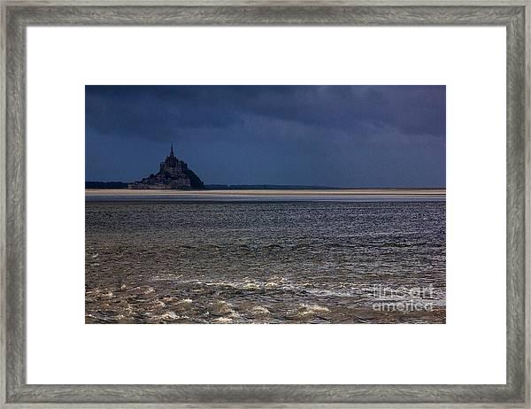 Tide In Mont Saint-michel Bay Framed Print