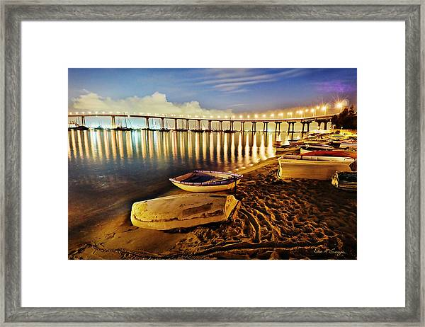 Tidelands Taxis Framed Print