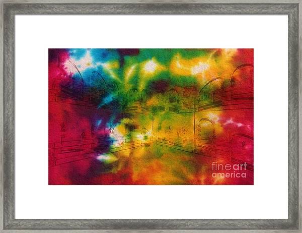 Tie-dyed Intermezzo Dream Framed Print