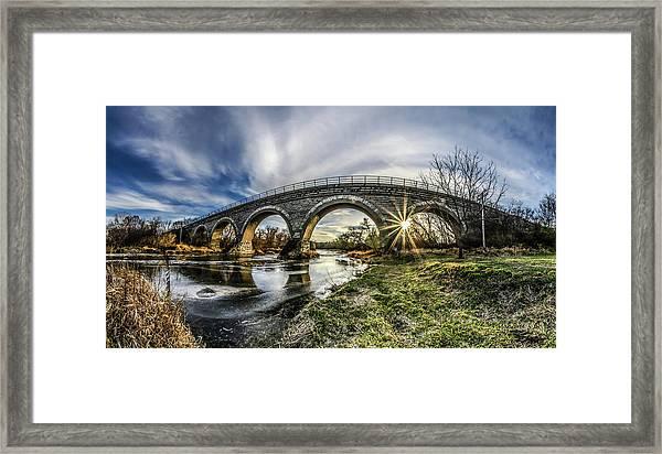 Tiffany Bridge Panorama Framed Print