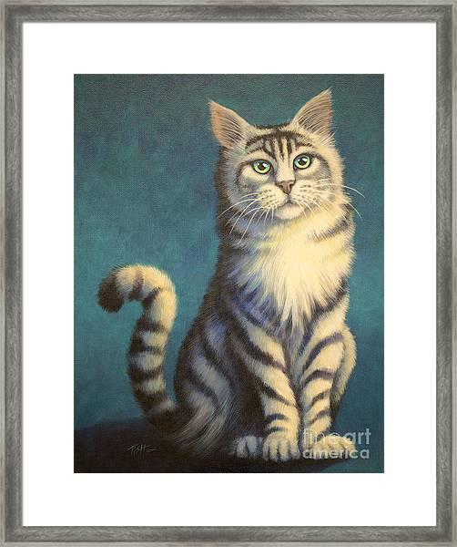 Tiger Kitty Framed Print