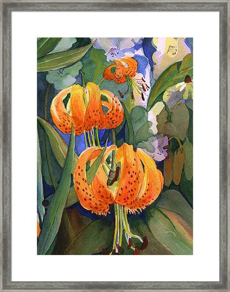 Tiger Lily Parachutes Framed Print