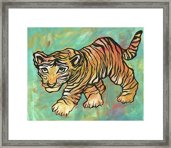 Tiger Trance Framed Print