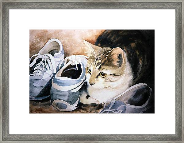 Tigger With Sneakers Framed Print
