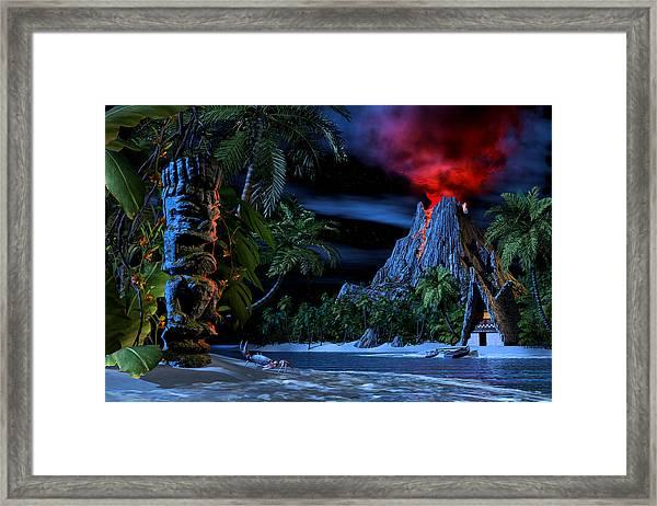 Tiki Jungle Framed Print