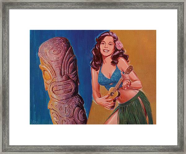 Tiki Tarts- I Love Nobody But Uke Baby Framed Print by Shawn Shea