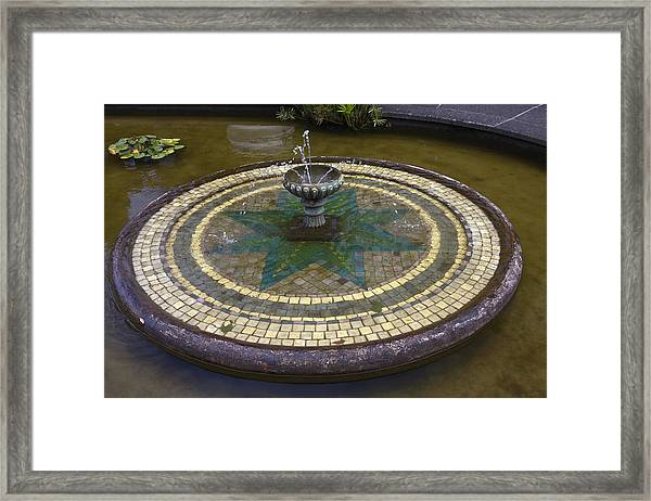Tile Fountain Framed Print