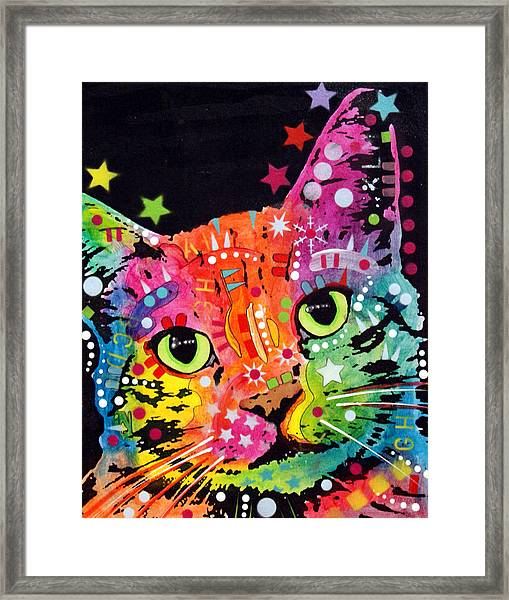 Tilted Cat Warpaint Framed Print
