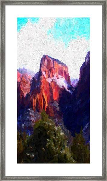 Timber Top Framed Print