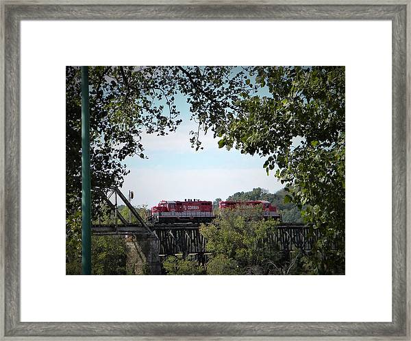 Timber Trestle Bridge Framed Print