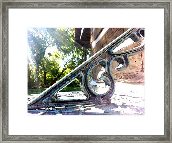 Time At An Angle Framed Print