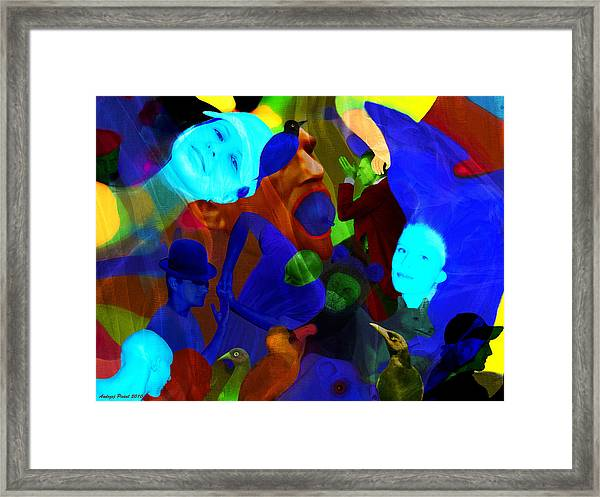 Time Does Not Stop. Framed Print