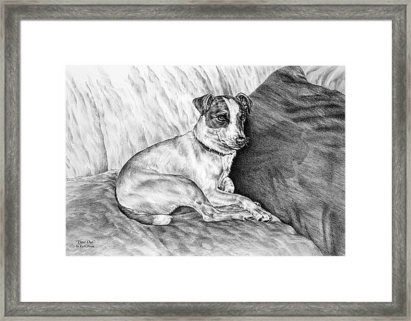 Time Out - Jack Russell Dog Print Framed Print