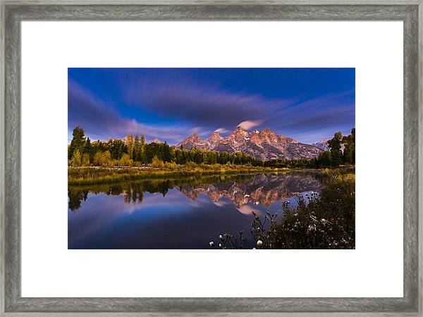 Time Stops Over Tetons Framed Print