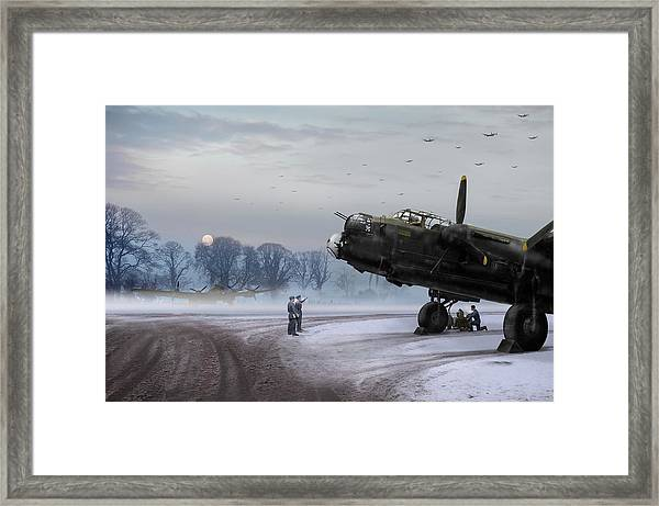 Time To Go - Lancasters On Dispersal Framed Print