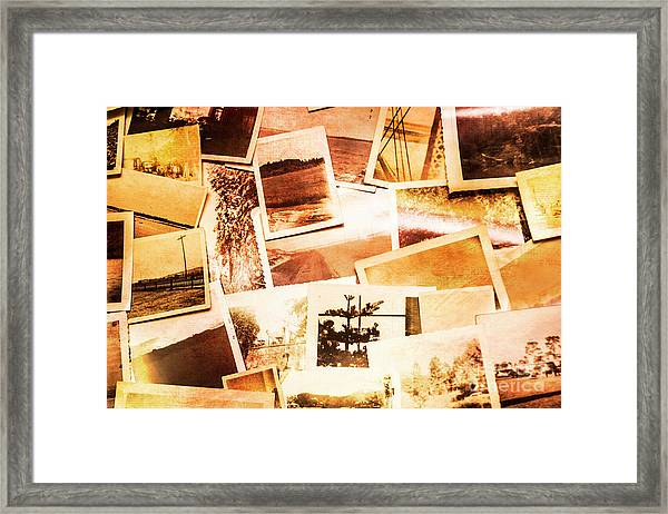 Time Worn Scenes And Places Background Framed Print