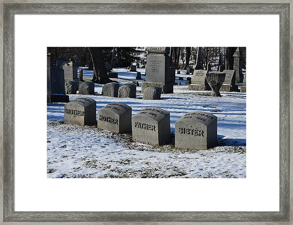 Timeless Family Framed Print