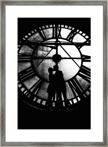 Timeless Love - Black And White Framed Print