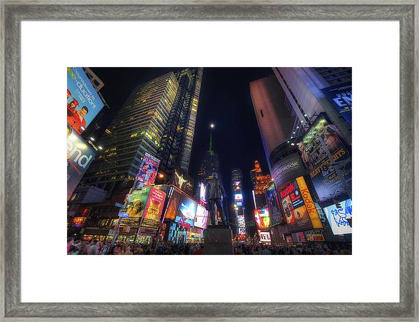 Times Square Moonlight Framed Print