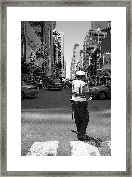 Times Square, New York City  -27854-bw Framed Print