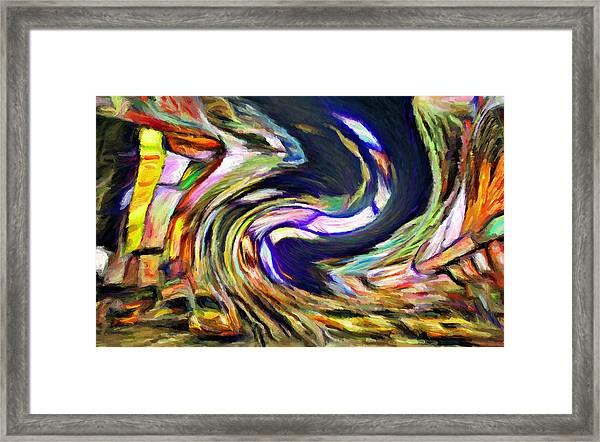Times Square Swirl Framed Print