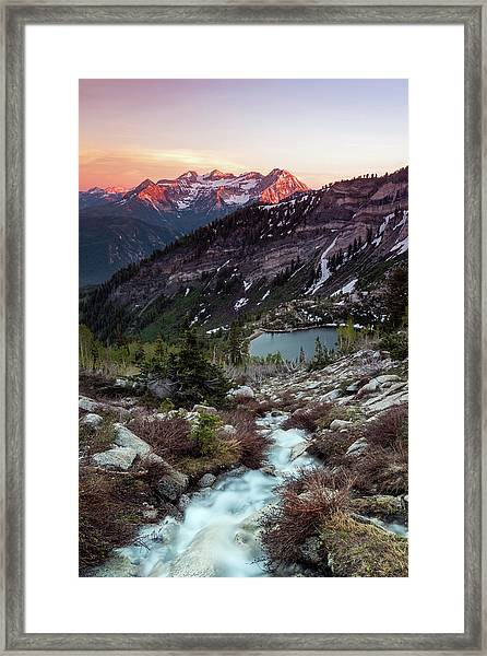 Timp From Silver Lake. Framed Print