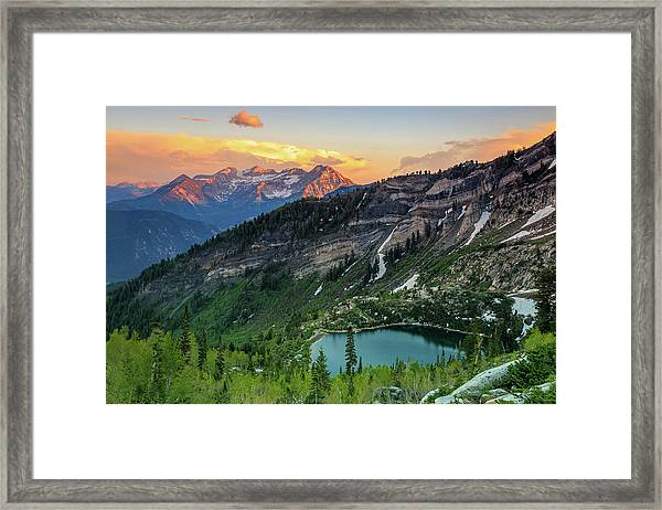 Timpanogos And Silver Lake. Framed Print
