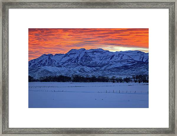 Timpanogos Burner Framed Print by Johnny Adolphson