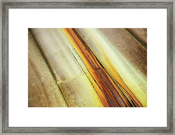 Tin Roof Abstract Framed Print