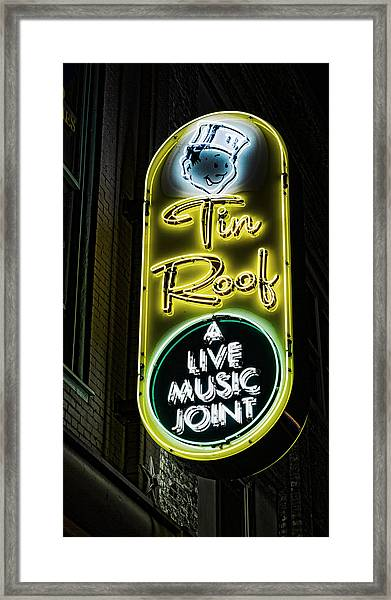 Tin Roof - Gritty Framed Print