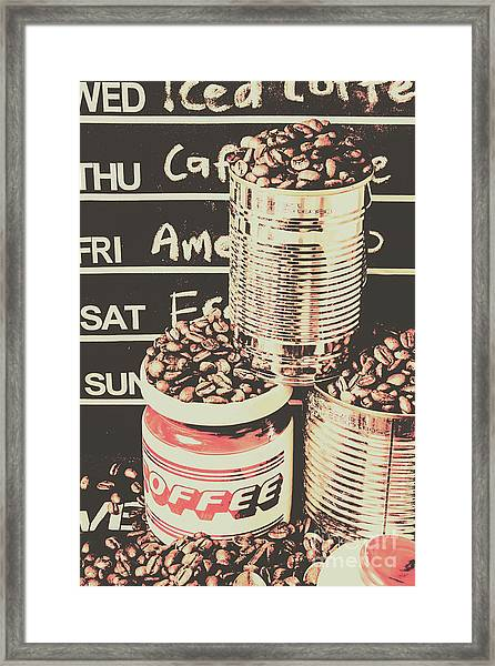 Tin Signs And Coffee Shops Framed Print