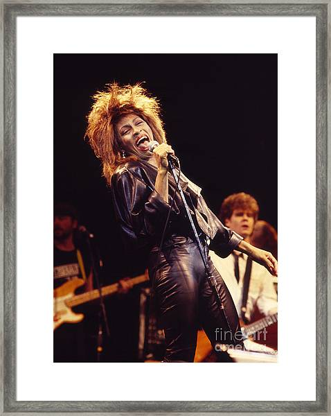 Tina Turner 1984 Framed Print by Chris Walter