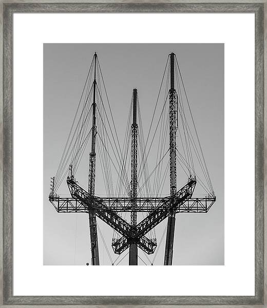 Tip Of The Sutro Framed Print