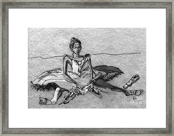 Tired Framed Print by Anthe Capitan-Valais