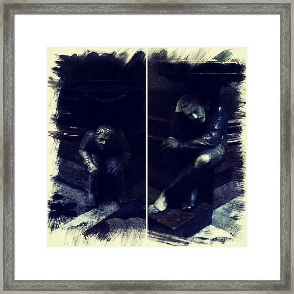 Tired Thinkers Framed Print