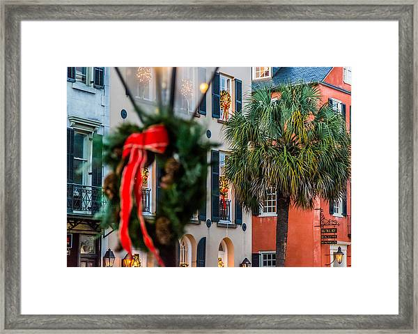 Tis The Season - Charleston Sc Framed Print