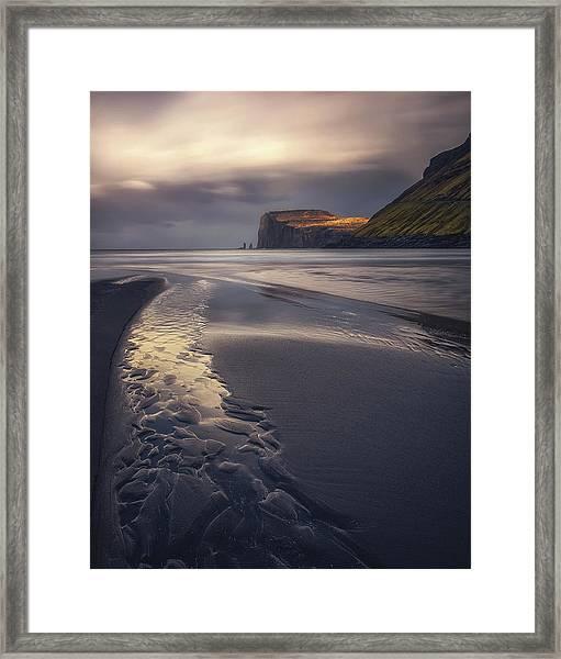 Tjornuvik Beach Framed Print