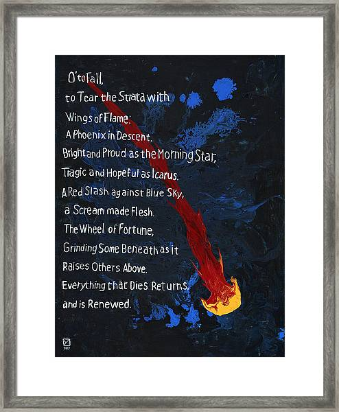 To Fall Framed Print