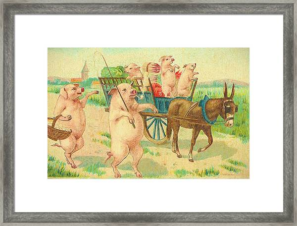 To Market To Market To Buy A Fat Pig 86 - Painting Framed Print