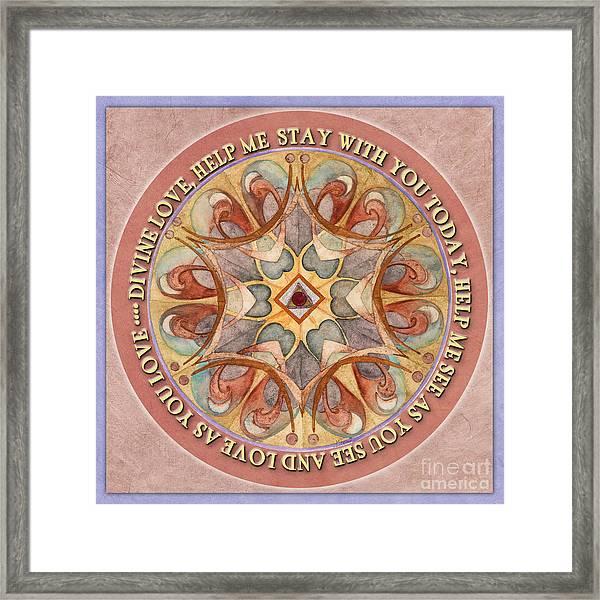 To See As Love Sees Mandala Prayer Framed Print