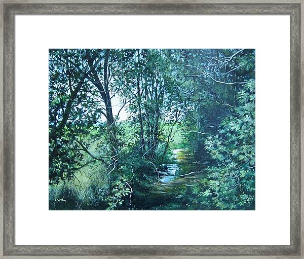 To The Field Framed Print