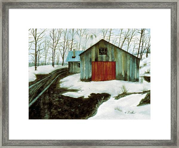To The Sugar House Framed Print