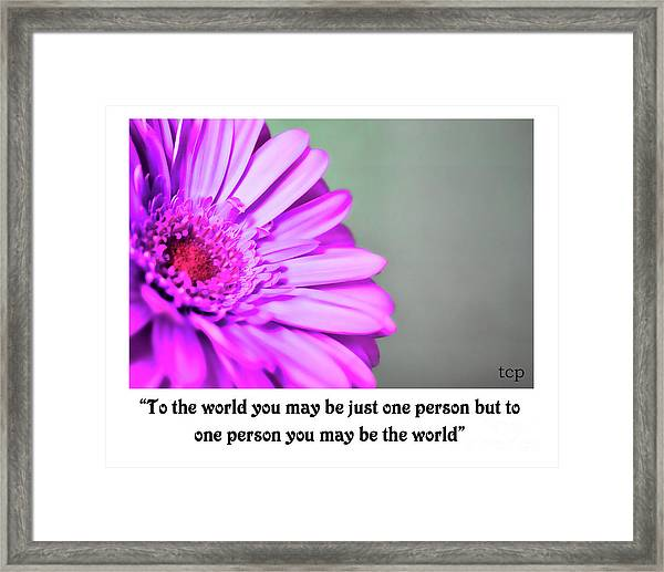 To The World Framed Print