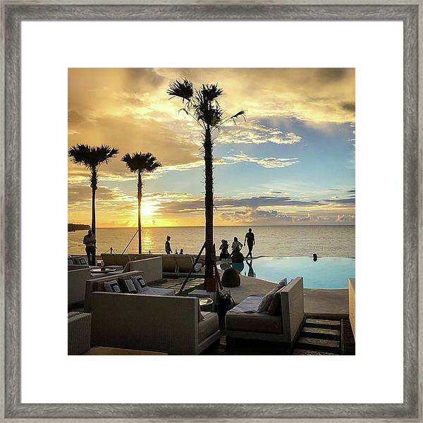 To Watch A Sunset Is To Connect With Framed Print by Arya Swadharma