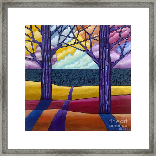 Framed Print featuring the painting Together Forever by Carla Bank