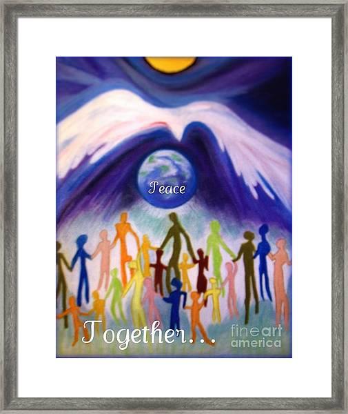 Together... Framed Print